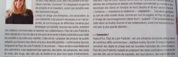 PL Publicité dans le magazine Informations Entreprises